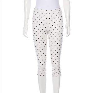 Alice + Olivia cropped pants white polka dots sz 0